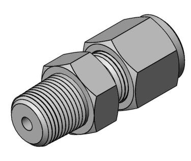 Compression fitting 1/8