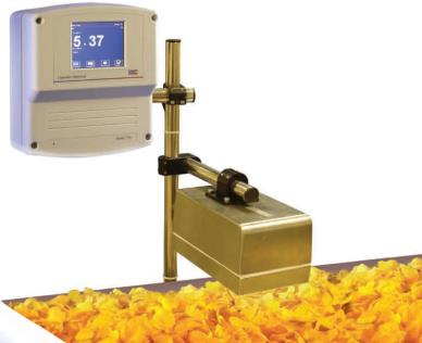 Contactless NIR instrument for process control, moisture, fat, protein, temperature